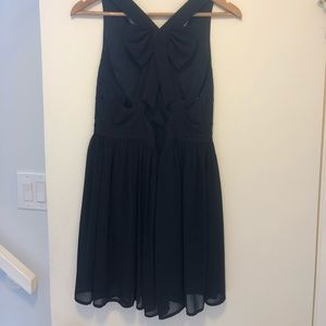 Black dress with cute bow tie back